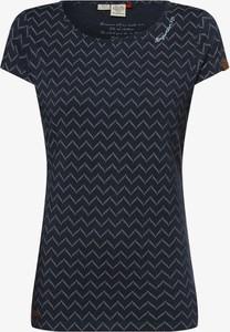 T-shirt Ragwear z krótkim rękawem z okrągłym dekoltem
