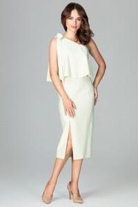 Sukienka LENITIF z asymetrycznym dekoltem