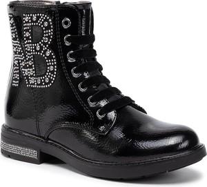 Czarne buty dziecięce zimowe Nelli Blu sznurowane