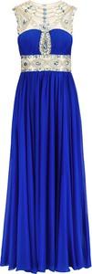 Niebieska sukienka La Poudre™ z dekoltem w kształcie litery v maxi