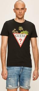 T-shirt Guess Jeans z krótkim rękawem z nadrukiem