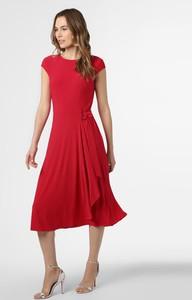 Czerwona sukienka Ralph Lauren midi