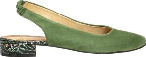Zielone czółenka Darbut