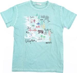Niebieska koszulka dziecięca Dondup z krótkim rękawem z bawełny