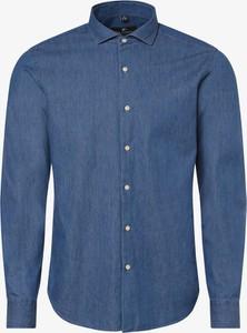 Niebieska koszula Nils Sundström z klasycznym kołnierzykiem