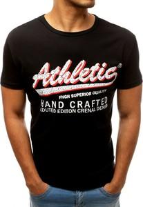 Czarny t-shirt Dstreet z krótkim rękawem z nadrukiem