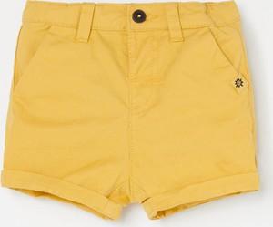 Żółte spodenki dziecięce Reserved z bawełny