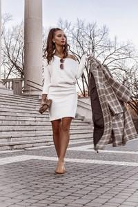 Sukienka Ohh La La z bawełny w stylu casual z długim rękawem