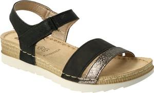 Czarne sandały Inblu z klamrami