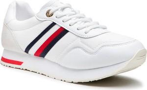 Buty sportowe Tommy Hilfiger ze skóry sznurowane
