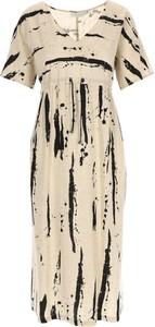 Sukienka POTIS & VERSO w stylu casual z krótkim rękawem z dekoltem w kształcie litery v