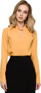 Bluzka Style z dekoltem w kształcie litery v z tkaniny w stylu casual