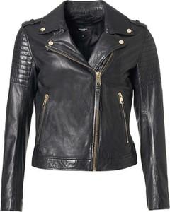 Czarna kurtka ROCKANDBLUE w rockowym stylu krótka ze skóry