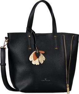 Czarna torebka Tom Tailor w stylu glamour na ramię