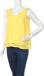Żółty top Gaudi Jeans z okrągłym dekoltem w stylu casual