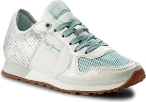 Sneakersy pepe jeans - verona w sequins pls30625 silver 934