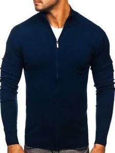 Granatowy sweter Denley w stylu casual