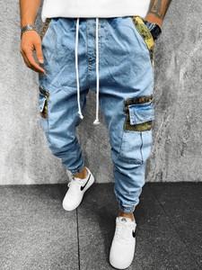 Niebieskie jeansy Ozonee z bawełny w młodzieżowym stylu