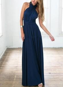 Sukienka Cikelly maxi bez rękawów z dekoltem na plecach