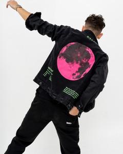 Czarna kurtka BREEZY z jeansu