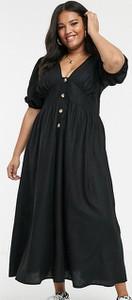 Czarna sukienka Asos z lnu