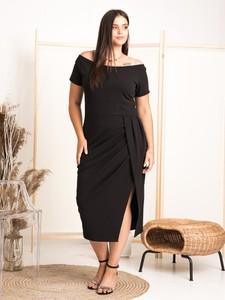 Sukienka KARKO hiszpanka z krótkim rękawem z tkaniny