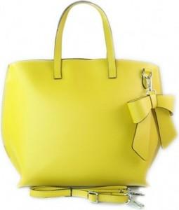 Żółta torebka vera pelle