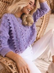 Fioletowy sweter SELFIEROOM z wełny