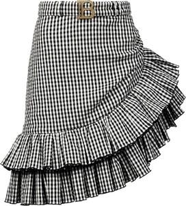 Czarna spódnica Balmain z jedwabiu