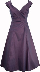 Semper suknia eugenia śliwkowa tafta