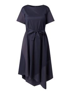 Granatowa sukienka MaxMara z bawełny midi z krótkim rękawem