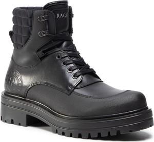 Czarne buty zimowe Rage Age sznurowane