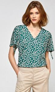 Bluzka Colett z krótkim rękawem z dekoltem w kształcie litery v