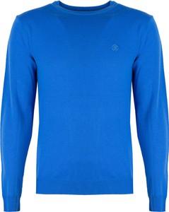Niebieski sweter Roberto Cavalli w stylu casual