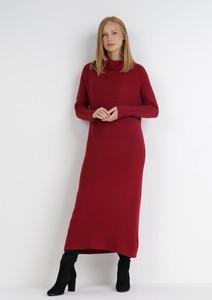 Sukienka born2be z długim rękawem maxi prosta
