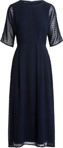 Sukienka Apart z okrągłym dekoltem maxi