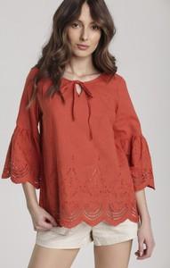 Bluzka Renee z długim rękawem ze sznurowanym dekoltem