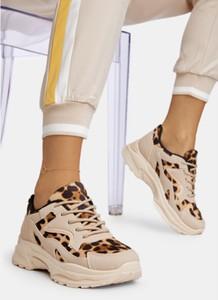Brązowe buty sportowe DeeZee sznurowane