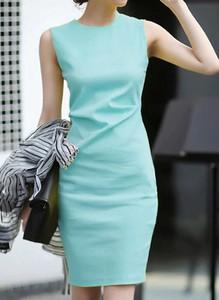 Turkusowa sukienka Cikelly bez rękawów
