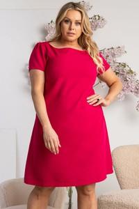 Czerwona sukienka KARKO trapezowa hiszpanka w stylu casual
