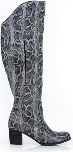 Kozaki Zapato ze skóry na zamek