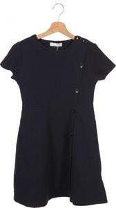 Granatowa sukienka ZARA w stylu casual z krótkim rękawem