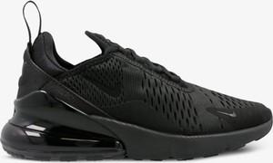Czarne buty sportowe Nike z płaską podeszwą w sportowym stylu