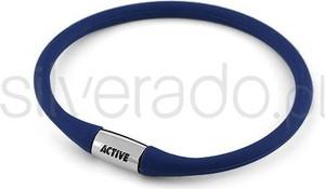 Silverado bransoleta ze stali szlachetnej z niebieskiego kauczuku 77-ba040n