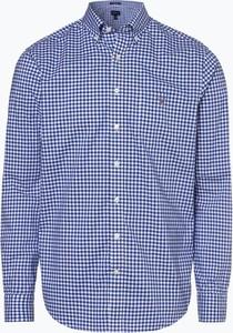 Niebieska koszula Gant z długim rękawem z kołnierzykiem button down
