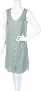 Zielona sukienka Re.draft mini z dekoltem w kształcie litery v