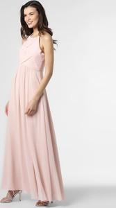 Różowa sukienka Marie Lund maxi z szyfonu