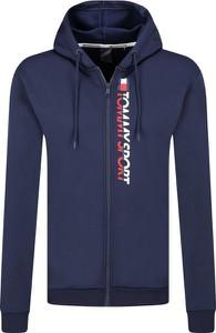 Niebieska bluza Tommy Sport z bawełny