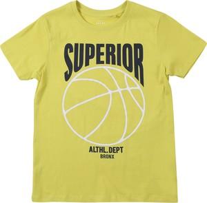 Zielona koszulka dziecięca Name it z dżerseju