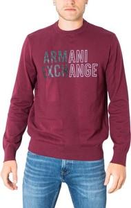 Czerwony sweter Armani Exchange w młodzieżowym stylu
